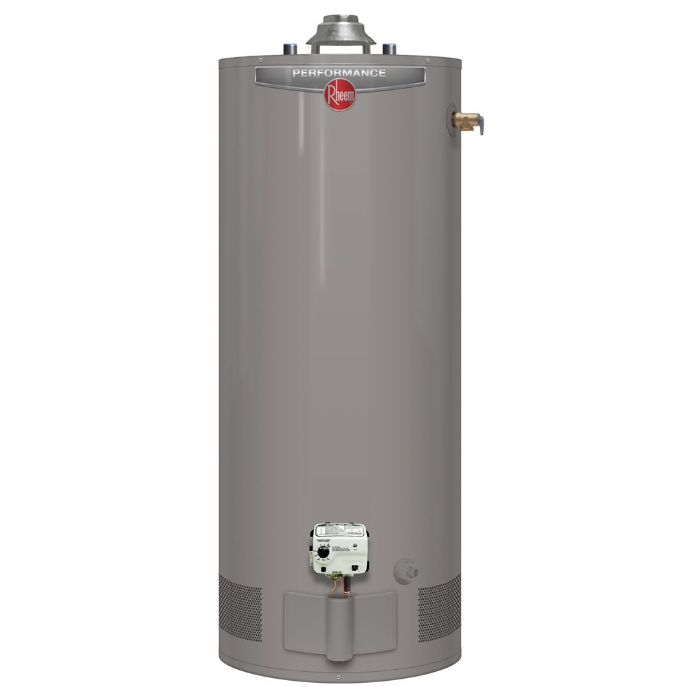 Rheem Performance 40 Gallon Gas Water Heater with 6 Year Warranty