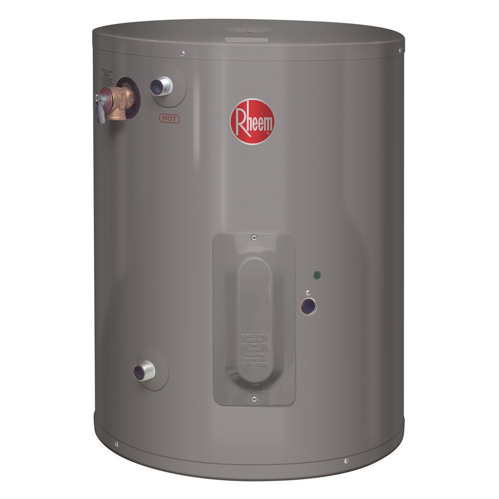 Rheem Point of Use 10 Gallon Electric Water Heater with 6 Year Warranty.