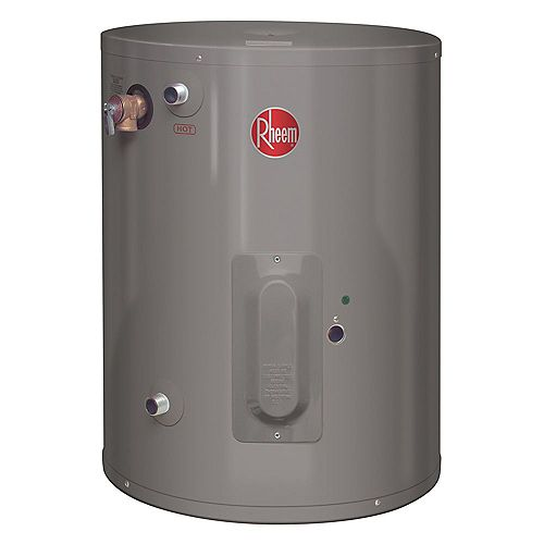 Rheem Point of Use 8 Imperial Gal Electric Water Heater with 6 Year Warranty.