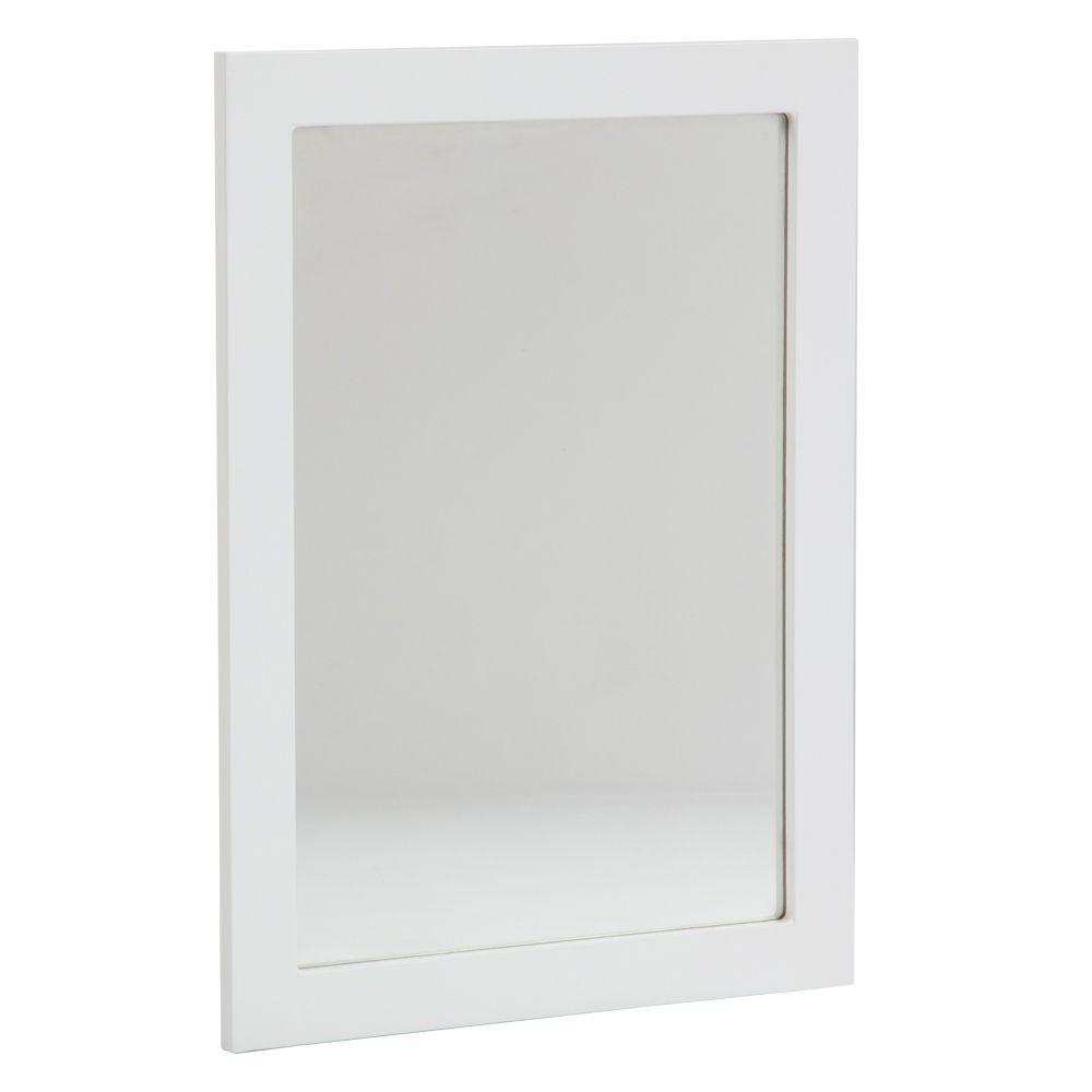GLACIER BAY Lancaster 20 Inch Wall Mirror in White - LAWM20C-WH