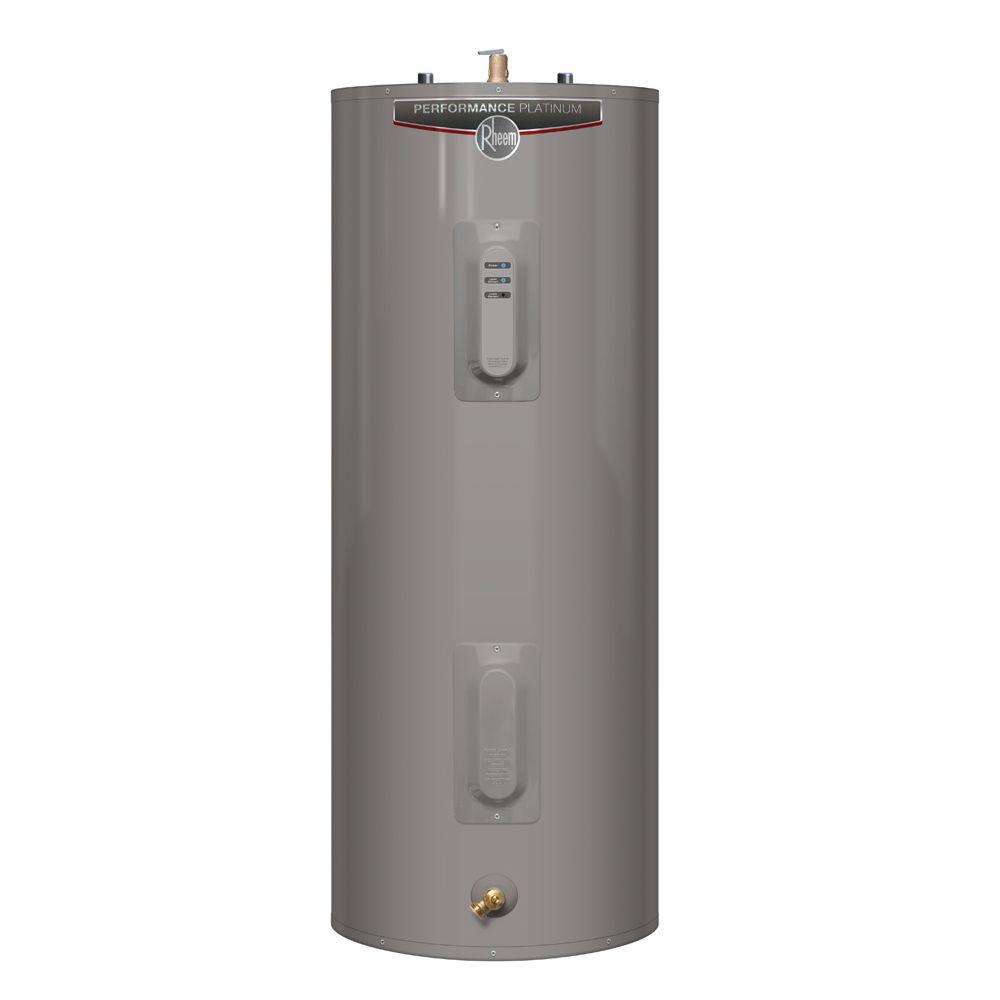 Chauffe-eau électrique de la gamme Performance Platinum de Rheem de 60 gallons avec 12 ans de gar...