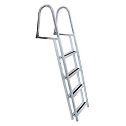 Dock Edge Stand Off 4-Step Aluminum Dock Ladder