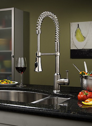 American Standard Pekoe Semi-Professional Kitchen Faucet in Polished ...