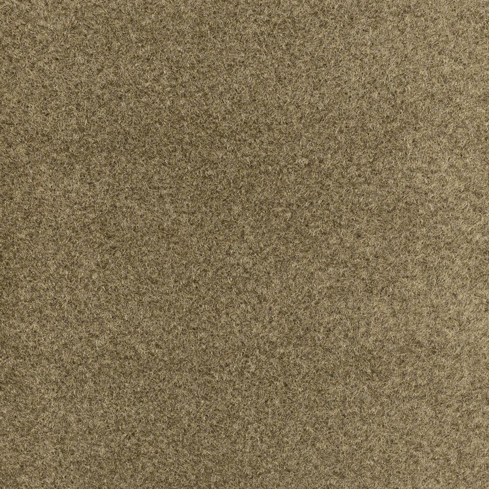 Tuile de tapis dilour 18 po. x 18 po., écorce, 12 tuiles - (2,51 m2 par carré par caisse)