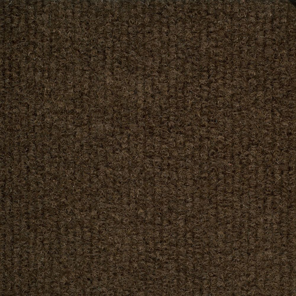 Foss Manufacturing Company Ribbed Chocolate Indoor/Outdoor 6 Feet x 8 Feet Area Rug