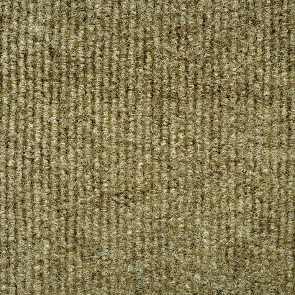 Ribbed Taupe Indoor/Outdoor 6 Feet x 8 Feet Area Rug