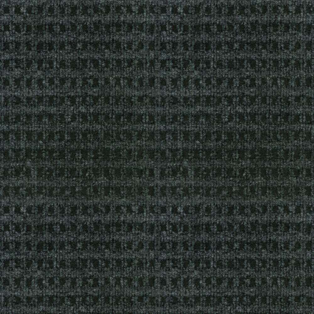 Checkmate Charcoal/Black Indoor/Outdoor 6 Feet x 8 Feet Area Rug