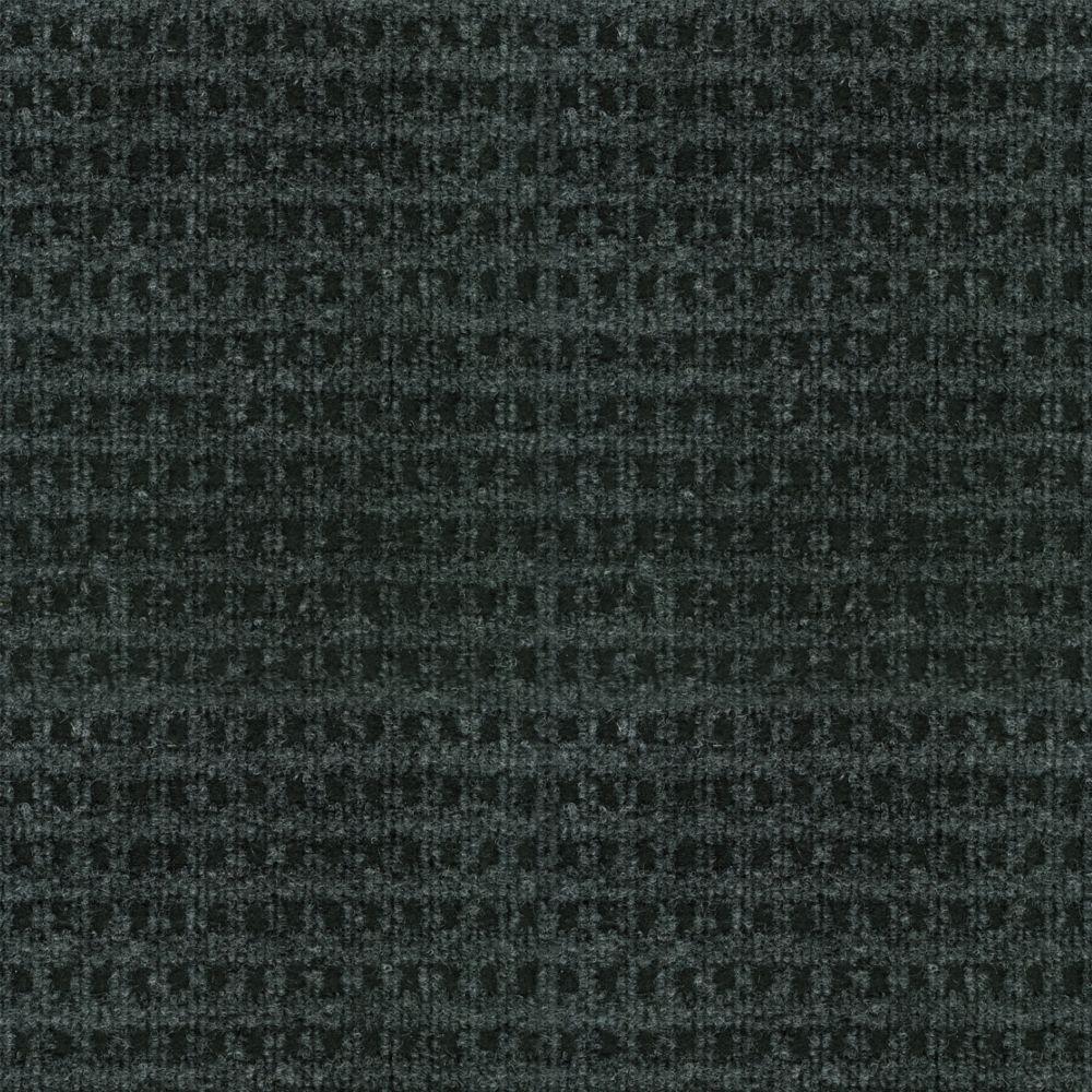 Tapis décoratif checkmate intérieur/extérieur charbon/noir 6 Pi. x 8 Pi.
