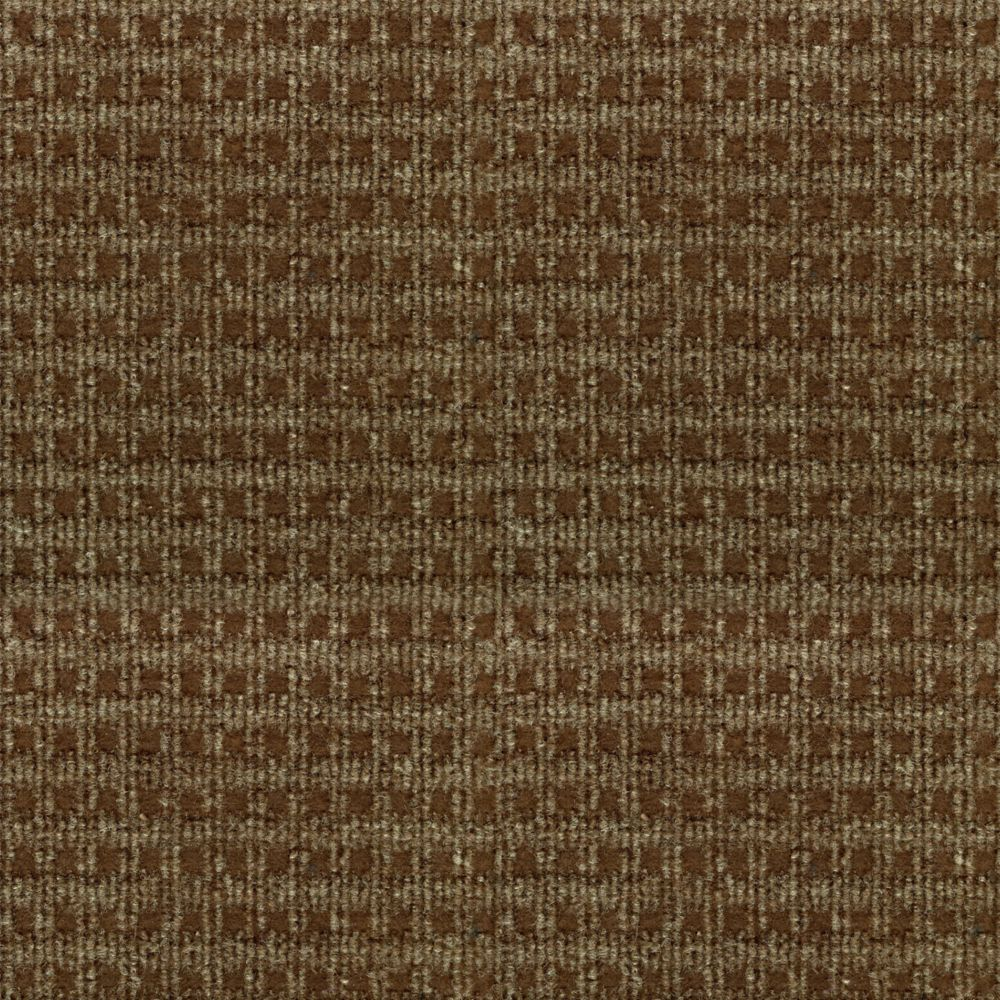 Foss Manufacturing Company Checkmate Brown 6 ft. x 8 ft. Indoor/Outdoor Textured Rectangular Area Rug