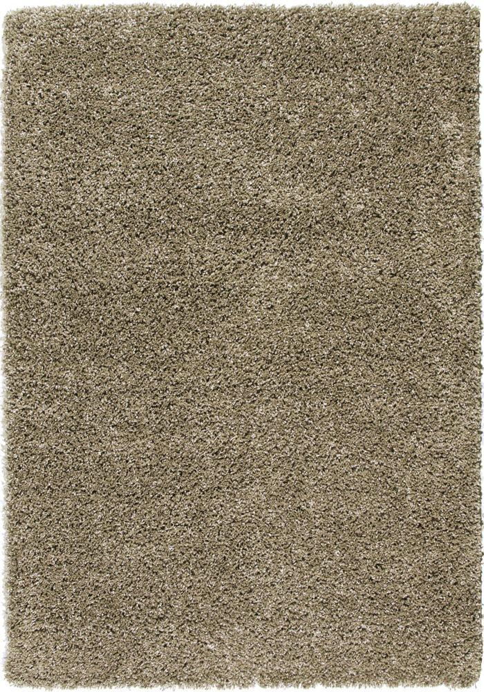 Carpette à poils longs 63 po x 90 po Chunky Shag, vert