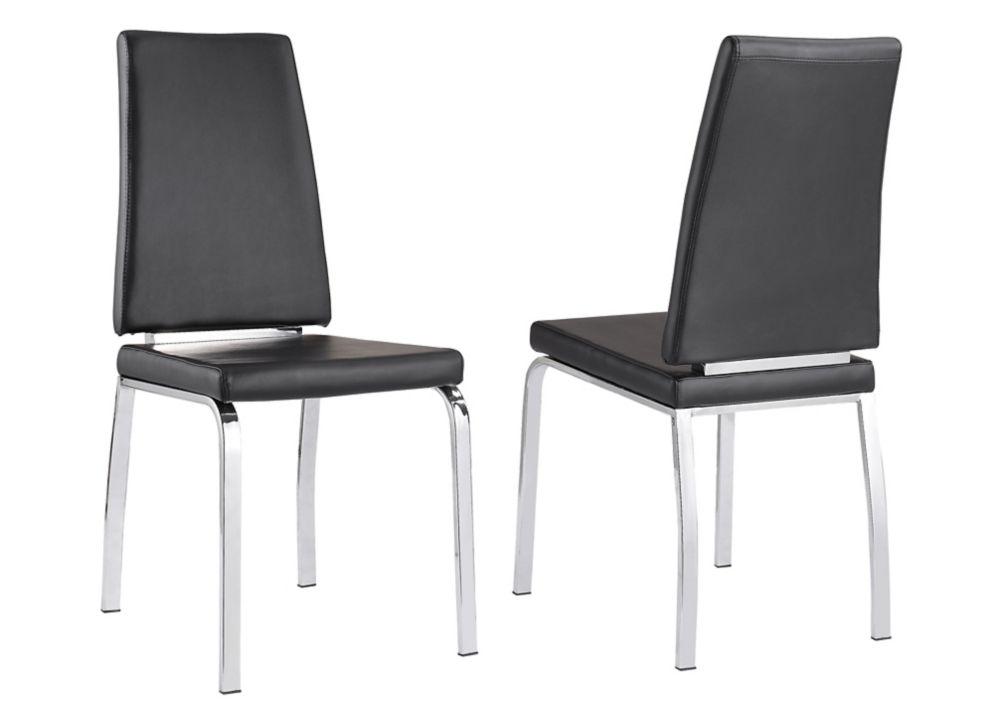 Lex - Box of 2 - Side Chair - Black