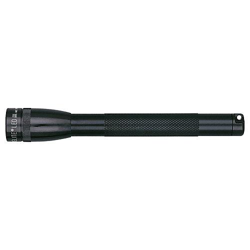 Mini 2-Cell AAA LED Flashlight - Black