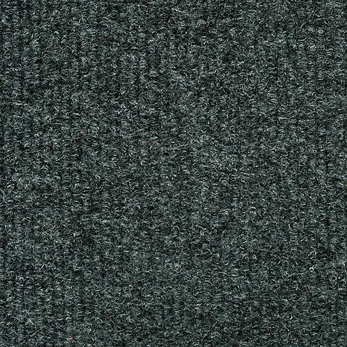 Tuile de tapis côtelée 18 po. x 18 po., gris acier, 16 tuiles/boîte - (3,35m2 carré par caisse)