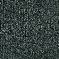 18-inch x 18-inch Gunmetal Ribbed Carpet Tile (36 sq. ft. / case)