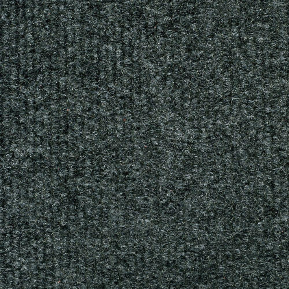 Gunmetal Ribbed 18 Inch x 18 Inch Carpet Tiles 16 Tiles/Case - (36 Sq.Feet./Case)