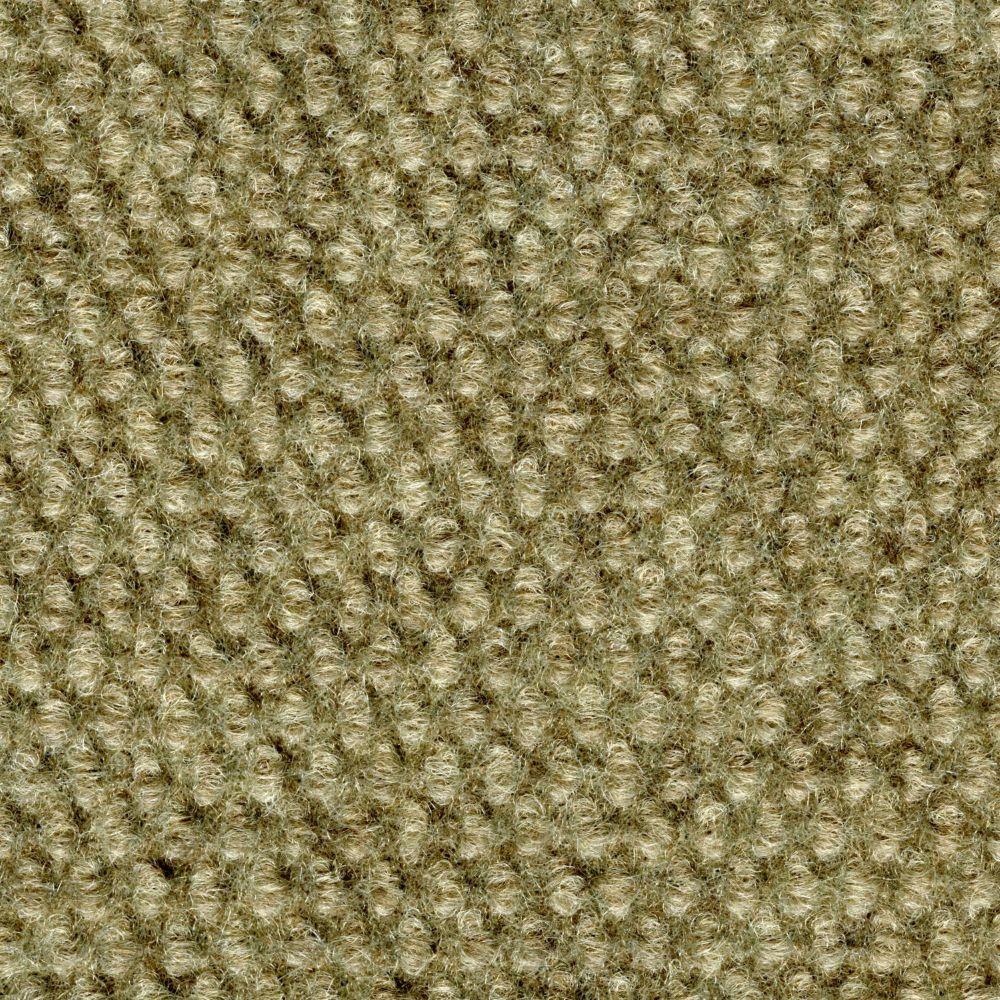 Tuile de tapis intérieure/extérieure avec motif à cabuchons 18 po. x 18 po., taupe, 16 tuiles/boî...
