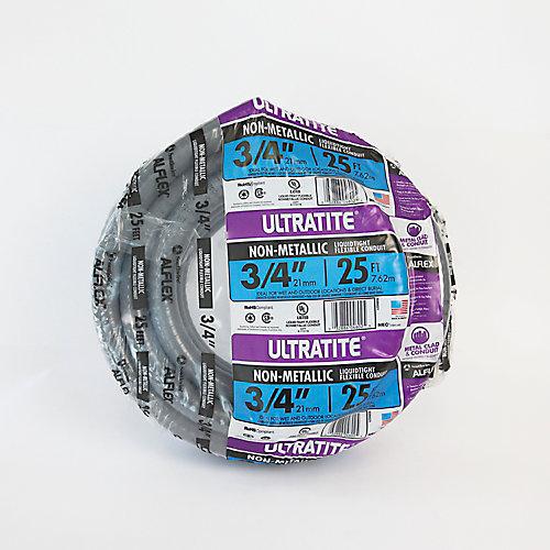 "Conduit Ultratight Flex 3/4"", Type NM, longueur 25 pi"