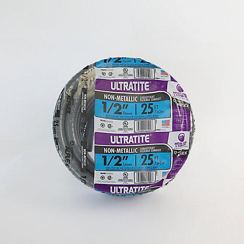 "Conduit Ultratight Flex 1/2"", Type NM, longueur 25 pi."