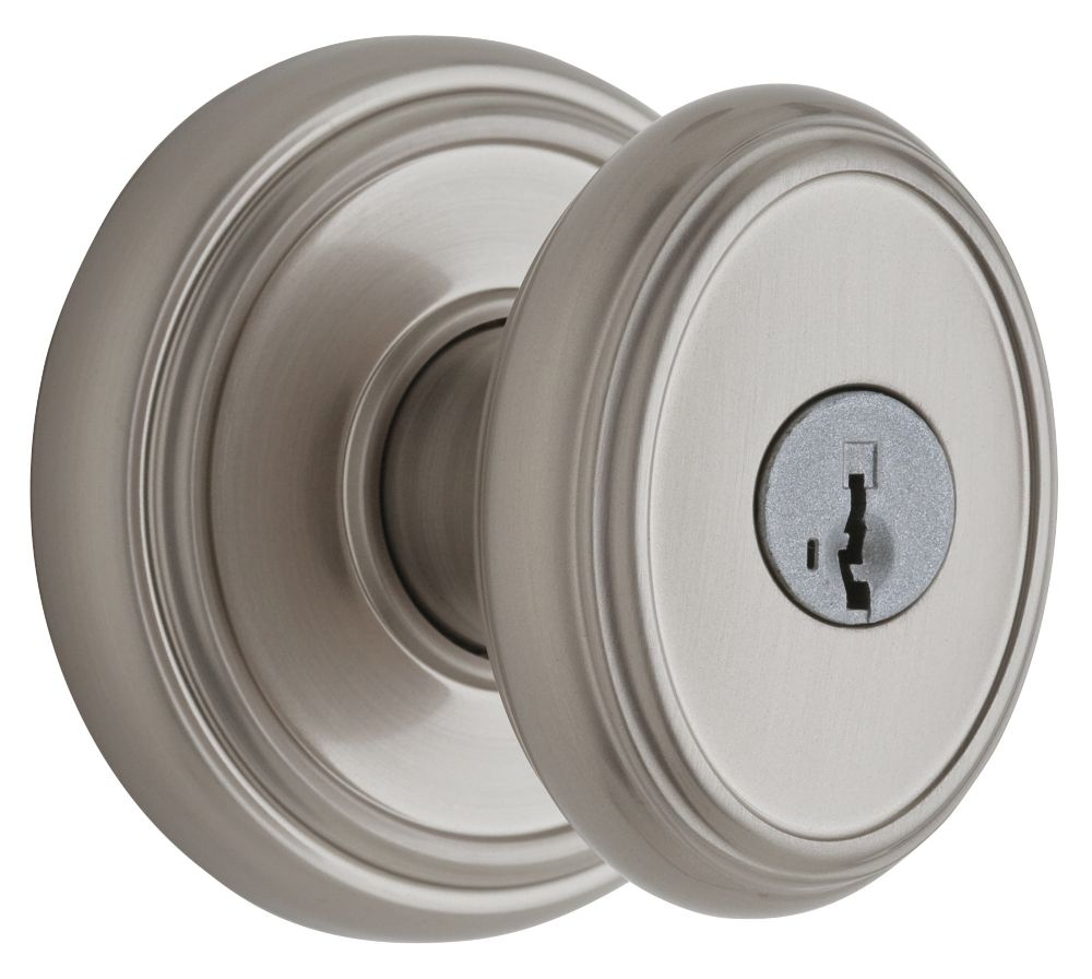 Weiser Brixton Satin Nickel Entry Knob