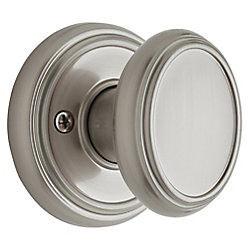 Brixton Dummy Knob in Satin Nickel