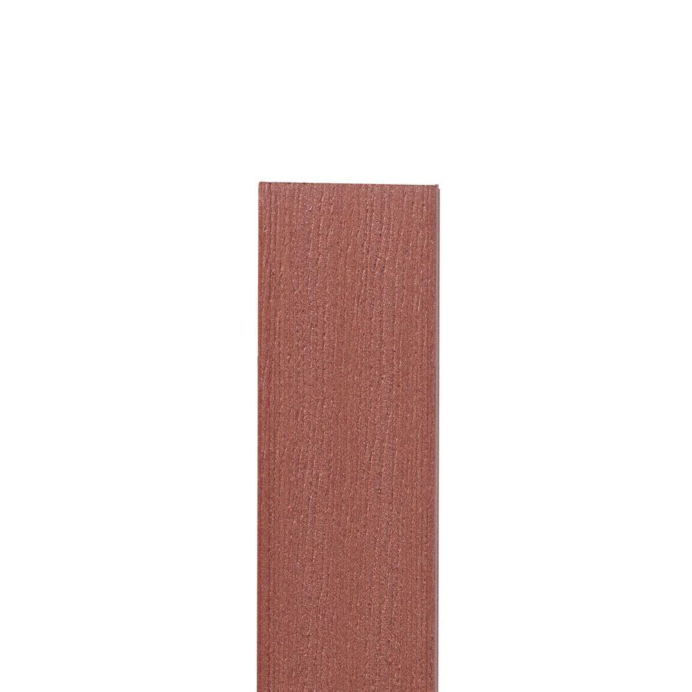 12 Ft.- Composite Fascia Redwood - 11 1/4 in