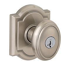 Prestige Carnaby Satin Nickel Entry Knob with SmartKey