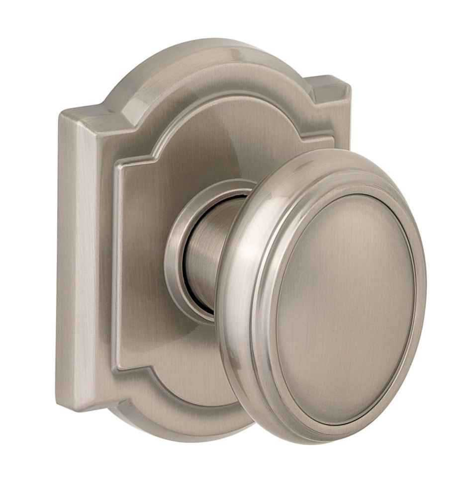 Bouton pour passage et penderie Prestige Carnaby, fini Satin Nickel
