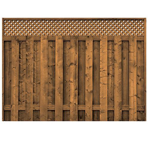 Treated Wood Lattice Top Fence Panel