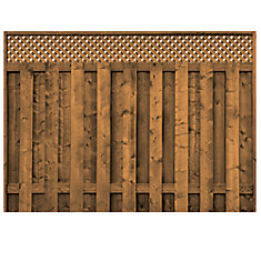 Treated Wood Lattice Top Fence Panel
