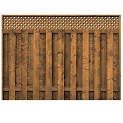 Micro Pro Sienna Treated Wood Lattice Top Fence Panel