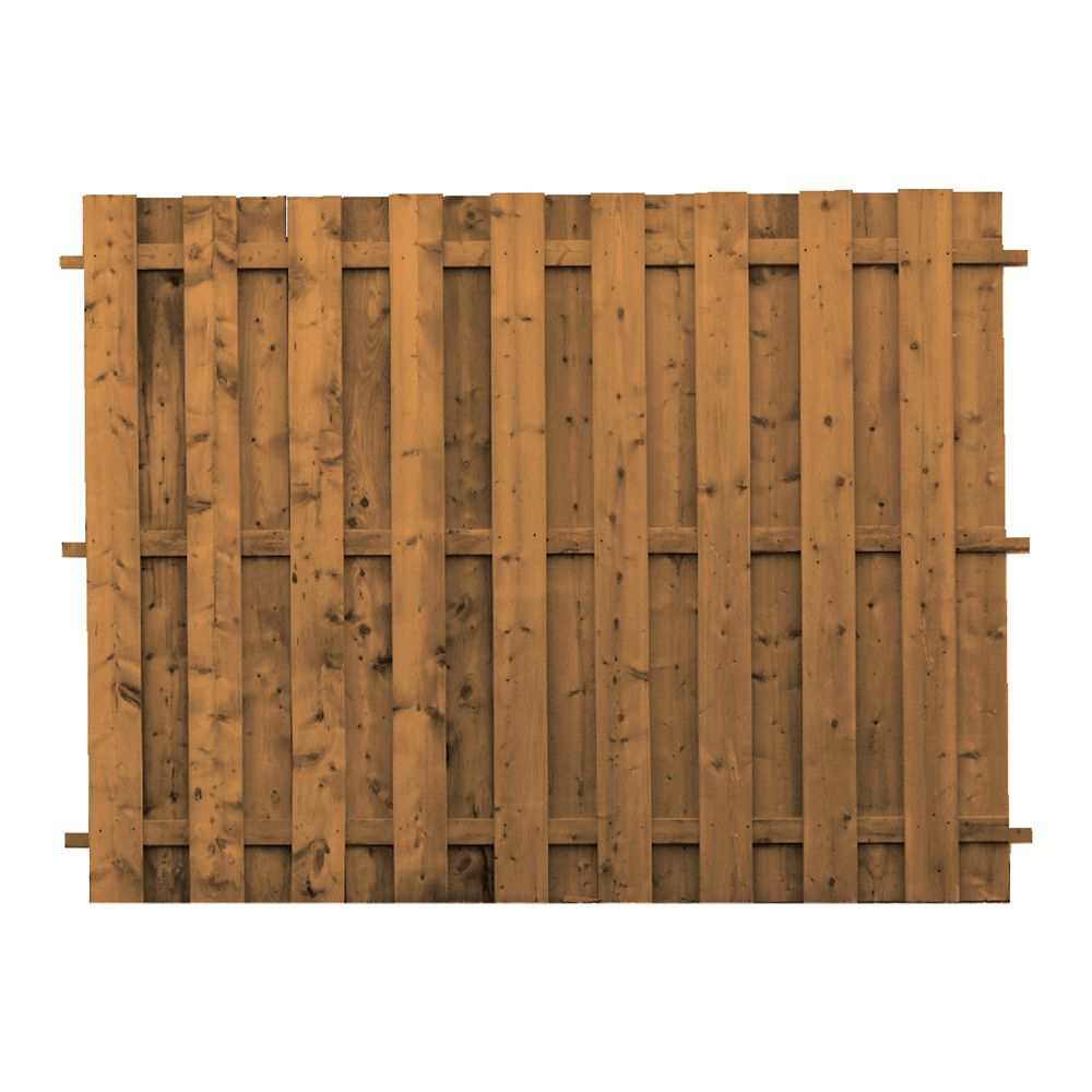 Treated Wood Board-on-Board Fence Panel