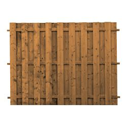 MicroPro Sienna Treated Wood Board-on-Board Fence Panel