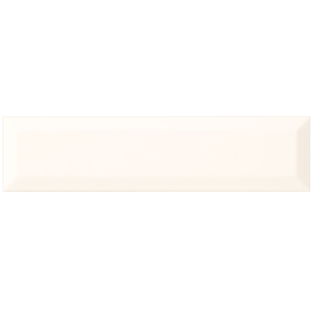 Finesse 3-inch x 12-inch Ceramic Beveled Wall Tile in Bright White (12 sq. ft./case)