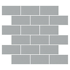 Finesse Grey 2-inch x 4-inch x 6 mm Ceramic Glazed Mosaic Tile