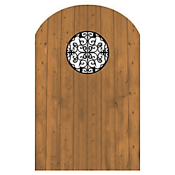 MicroPro Sienna Treated Wood Gate with Decorative Insert