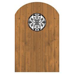 MicroPro Sienna Porte en bois traité avec élément décoratif