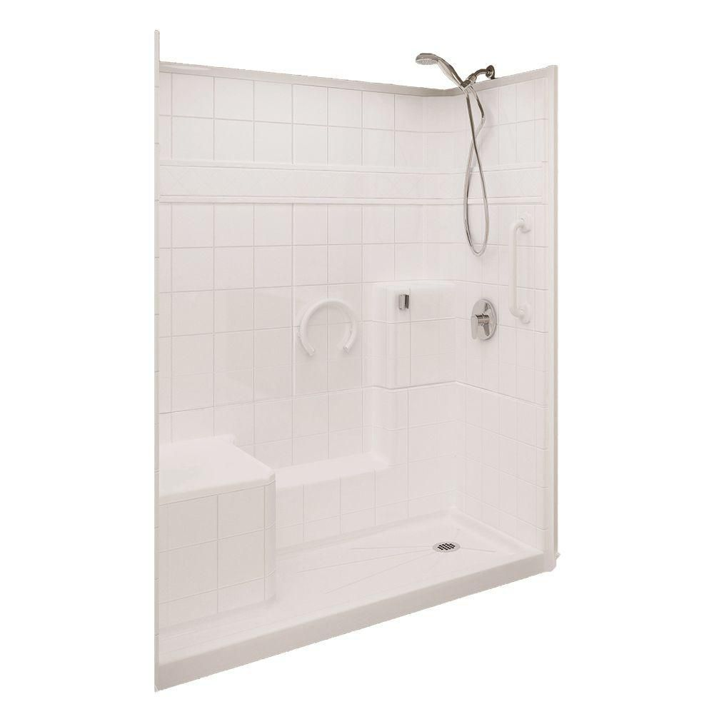 Ella prestige 32 inch x 60 inch x 77 inch 3 piece shower for 7 home depot