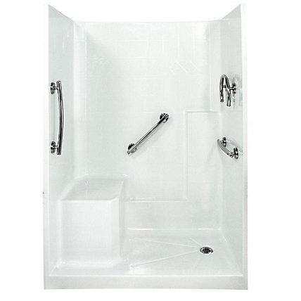 Ella Freedom 32-Inch x 60-Inch x 77-Inch 3-Piece Shower Stall in ...
