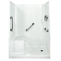 Freedom 32-Inch x 60-Inch x 77-Inch 3-Piece Shower Stall in White