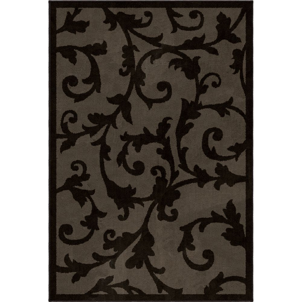Marion Grey 5 ft. 1-inch x 7 ft. 6-inch Indoor Transitional Rectangular Area Rug