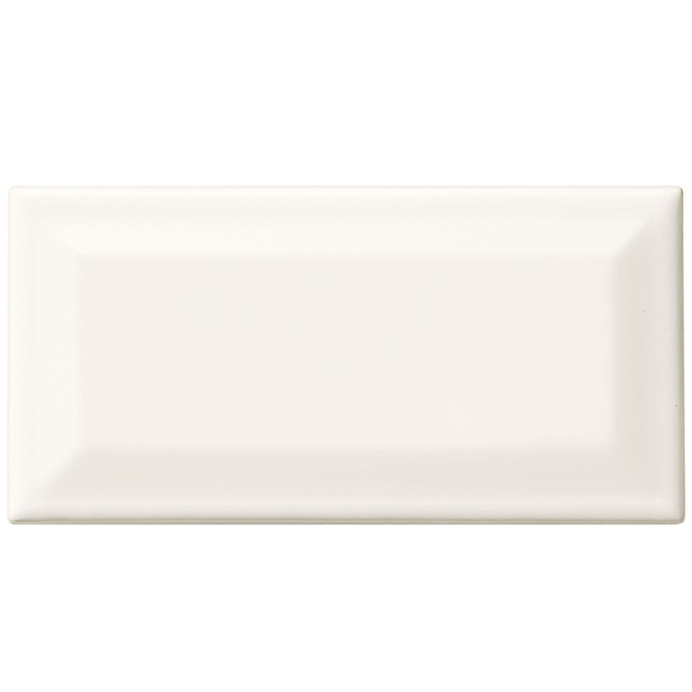 Finesse 3-inch x 6-inch Ceramic Modular Mosaic Beveled Wall Tile in White (9.96 sq. ft./case)