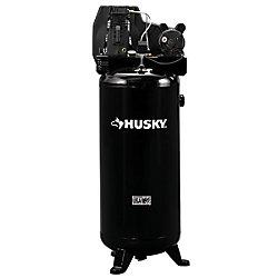 HUSKY Compresseur d'air avec lubrification à l'huile pour entraînement par courroie de 60 gallons