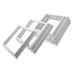 Alexandria Moulding Ensemble de moulures de finition en PVC pour couvre-poteau carré de 4 po