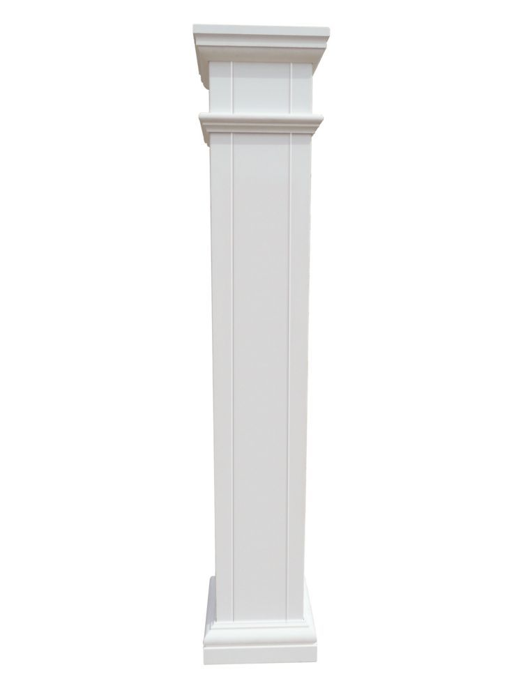 Home Depot Columns For Homes : Alexandria moulding pvc square post cover feet