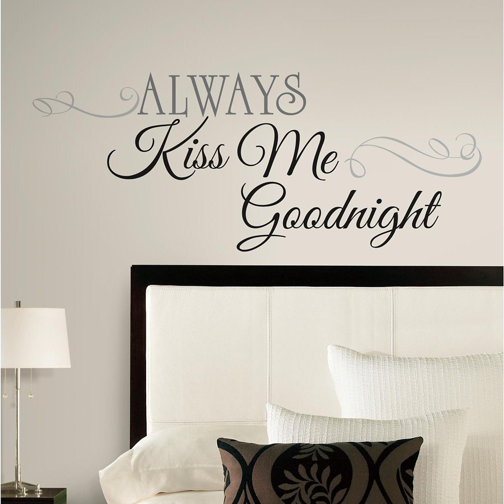 "Stickers Muraux ""Kiss Me Goodnight"""