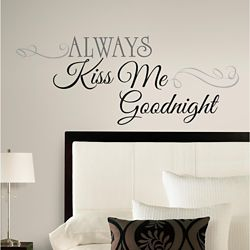 RoomMates Kiss Me Goodnight Peel & Stick Wall Decals