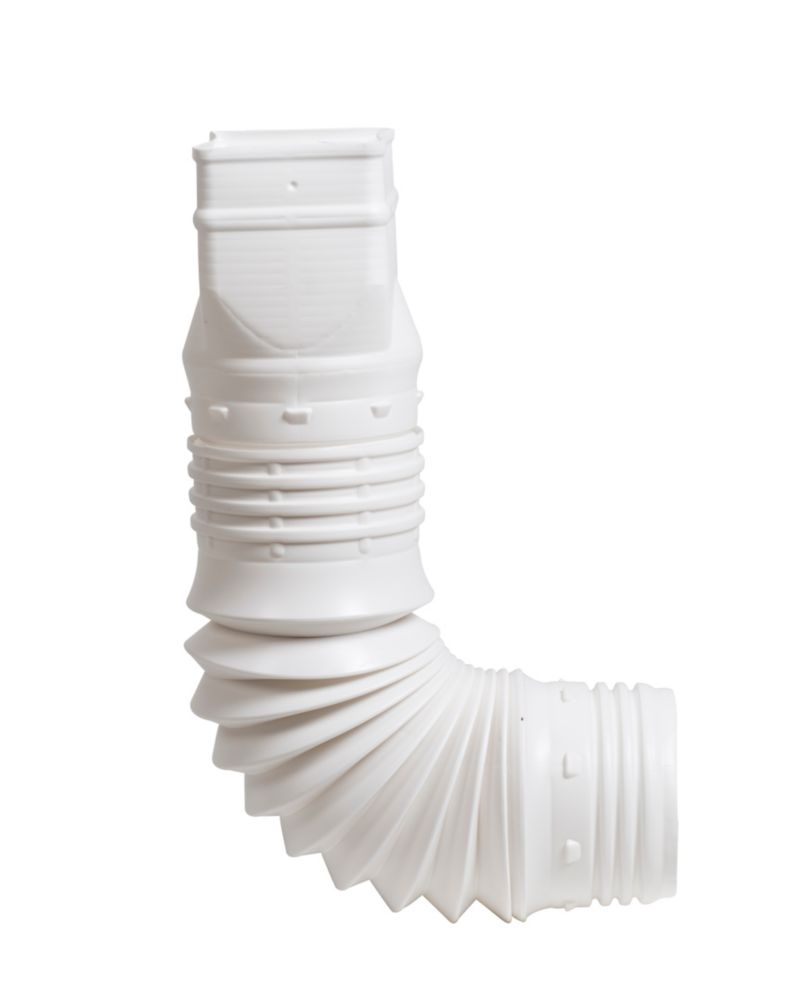 FLEX-A-SPOUT Downspout Adapter 2-In x 3-Inch White