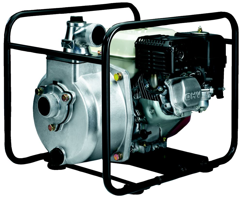 High pressure pump with two inch hose kit