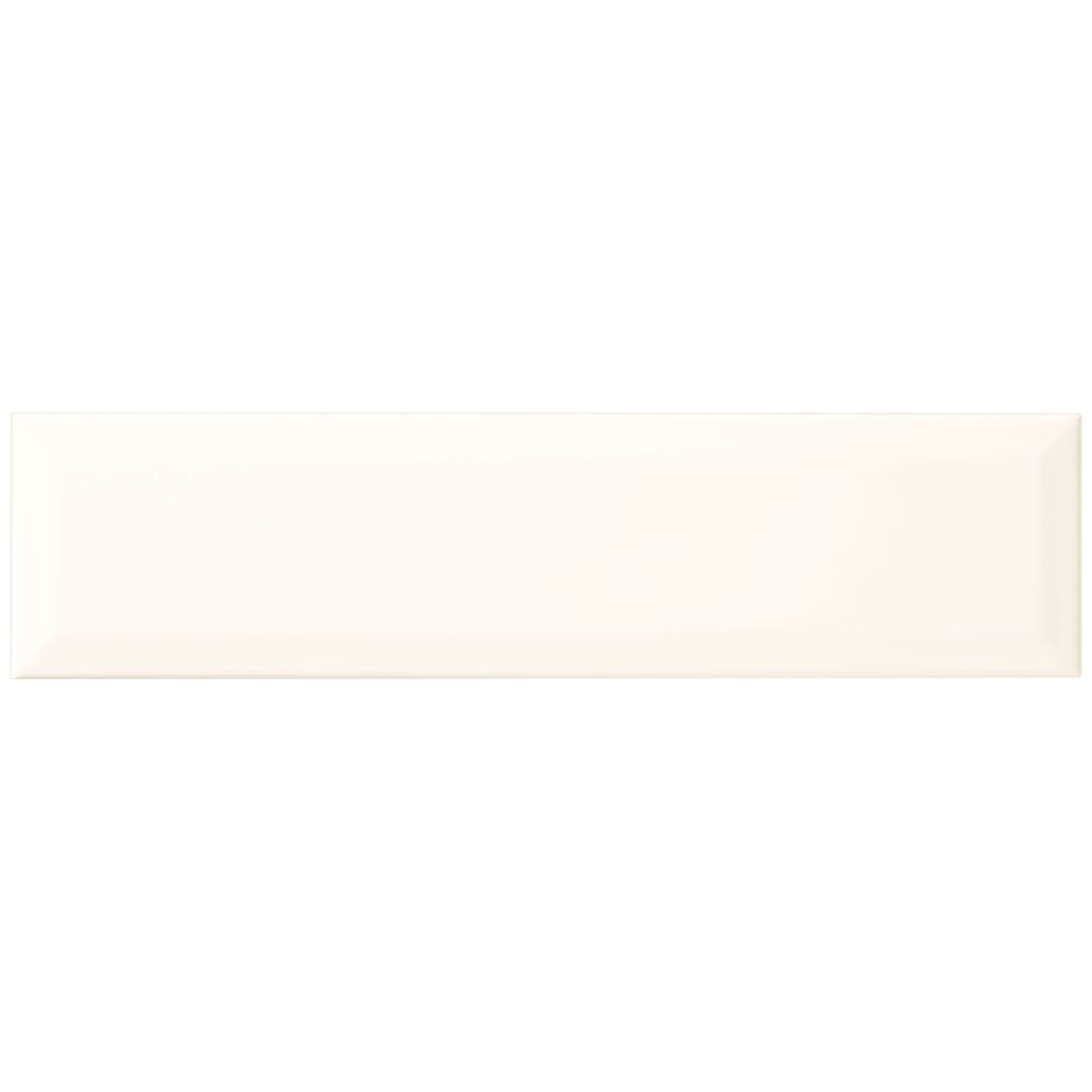 Finesse Bright White 4 Inch x 16 Inch Ceramic Sharp Beveled Wall Tile (10.75 Sq. Feet / Case)