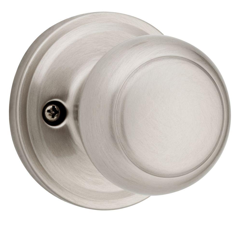 Troy inactif bouton Nickel Satin